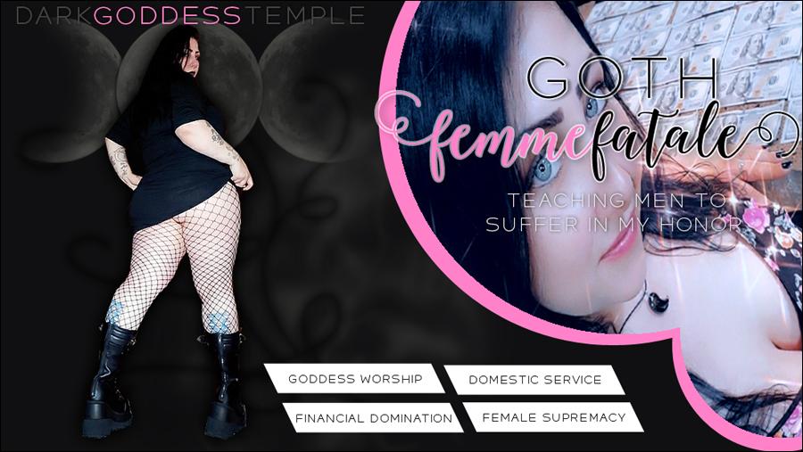 femdom, gothic, goth, findom, domme, dominatrix, ohio, female supremacy, financial domination, goth femme fatale, bbw, curvy, tease, femme fatale